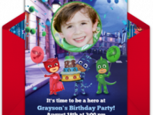 13 Customize Our Free Pj Mask Birthday Invitation Template With Stunning Design for Pj Mask Birthday Invitation Template