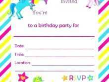 13 Free Printable Unicorn Pool Party Invitation Template Now by Unicorn Pool Party Invitation Template