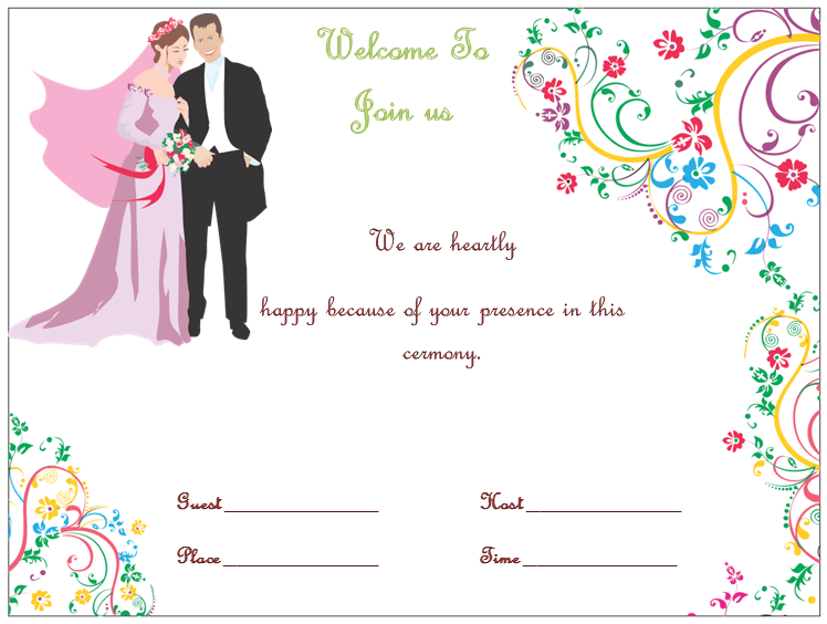 13 Free Printable Wedding Invitation Template In Word in Photoshop by Wedding Invitation Template In Word