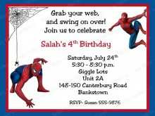 13 Online Spiderman Party Invitation Template Free for Ms Word with Spiderman Party Invitation Template Free