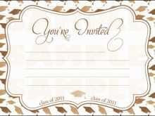 13 Printable Blank Graduation Invitation Template for Ms Word with Blank Graduation Invitation Template