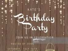 Rustic Birthday Invitation Template