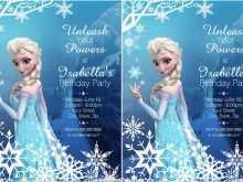 13 The Best Birthday Invitation Template Frozen Photo by Birthday Invitation Template Frozen