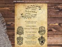 13 The Best Harry Potter Wedding Invitation Template Download for Harry Potter Wedding Invitation Template