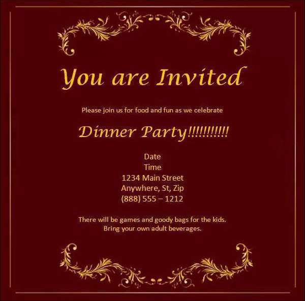 13 Visiting Business Dinner Invitation Template Word Layouts by Business Dinner Invitation Template Word