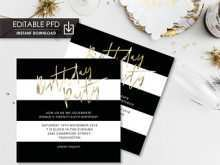 14 Creative Birthday Party Invitation Template Black And White Maker for Birthday Party Invitation Template Black And White