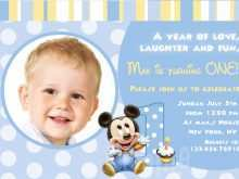 1St Birthday Invitation Template Blank