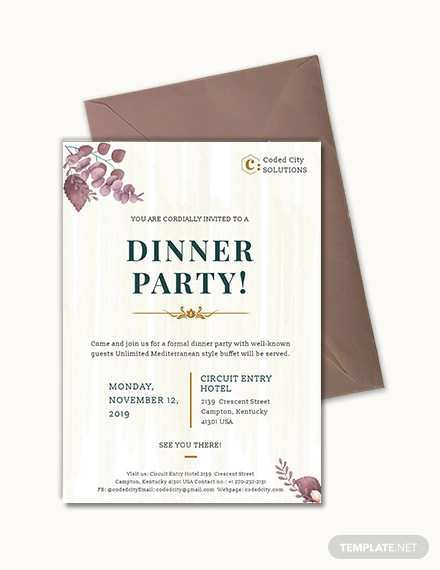 14 Free Example Of Invitation Card For Dinner PSD File with Example Of Invitation Card For Dinner
