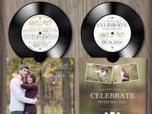 14 Free Printable Vinyl Record Wedding Invitation Template PSD File for Vinyl Record Wedding Invitation Template