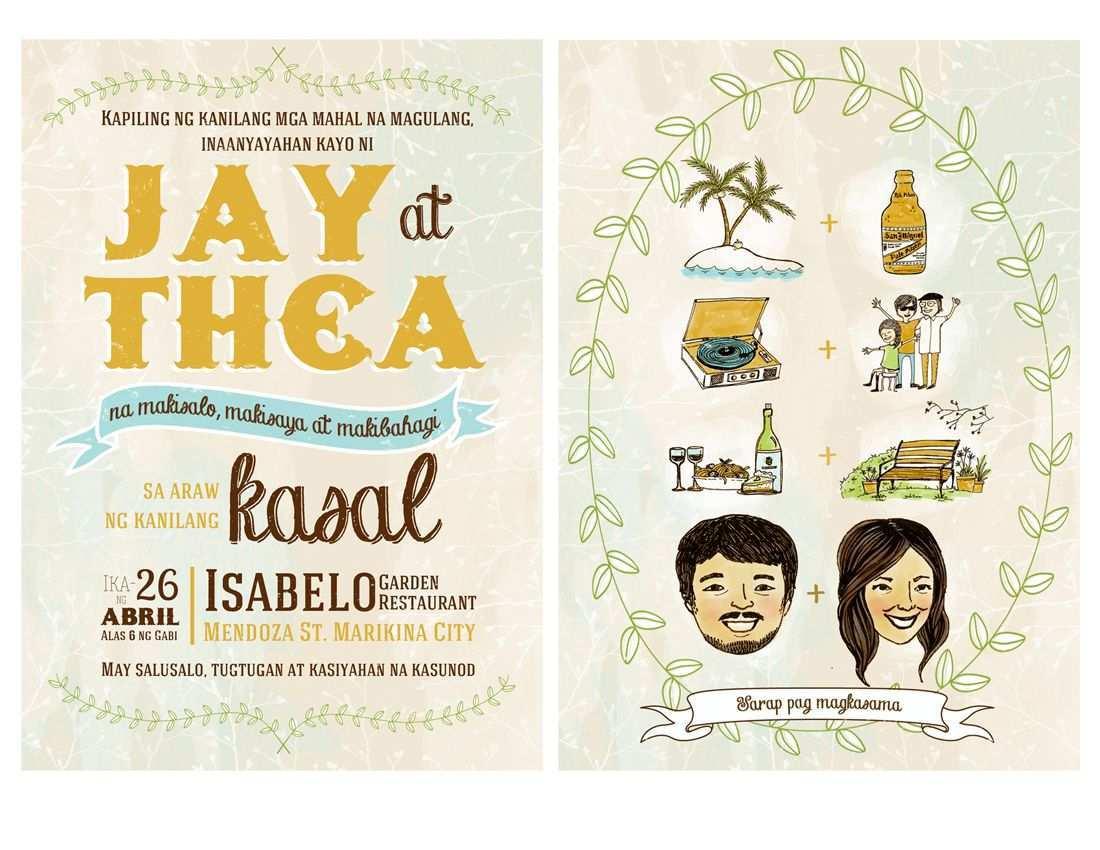 Example Ng Invitation Card Tagalog - Cards Design Templates