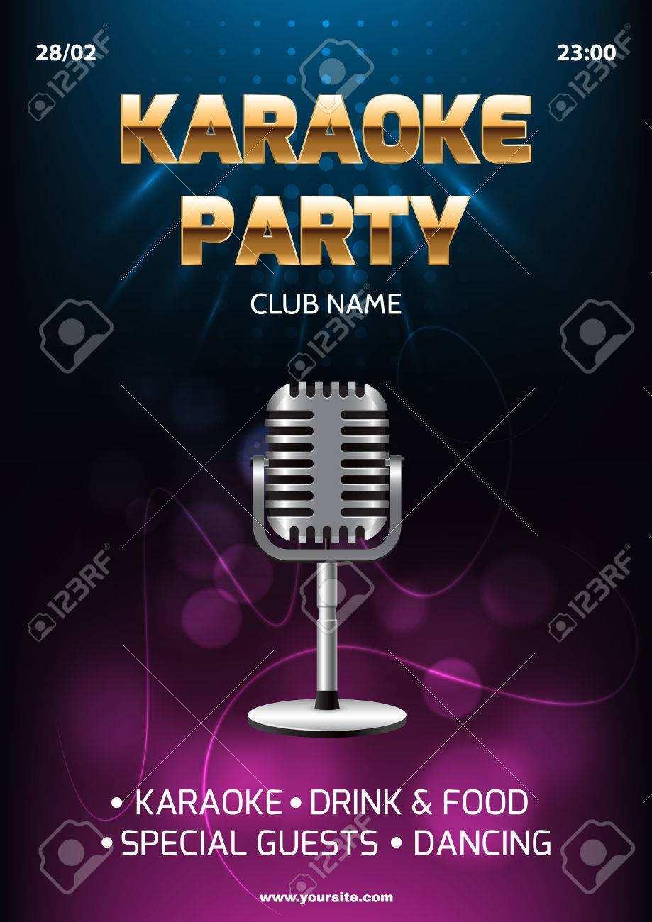 14 Visiting Karaoke Party Invitation Template Maker by Karaoke Party Invitation Template