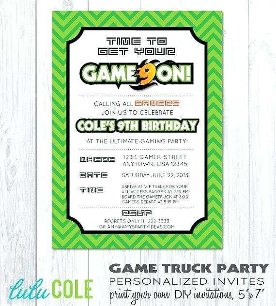 14 Visiting Video Game Party Invitation Template for Ms Word with Video Game Party Invitation Template