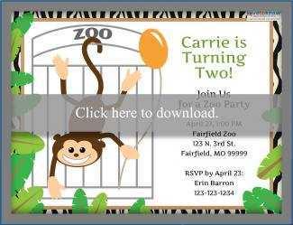 14 Visiting Zoo Birthday Party Invitation Template Download with Zoo Birthday Party Invitation Template