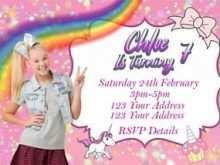 15 Blank Jojo Siwa Party Invitation Template Maker by Jojo Siwa Party Invitation Template