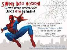 15 Create Spiderman Party Invitation Template Free Photo by Spiderman Party Invitation Template Free