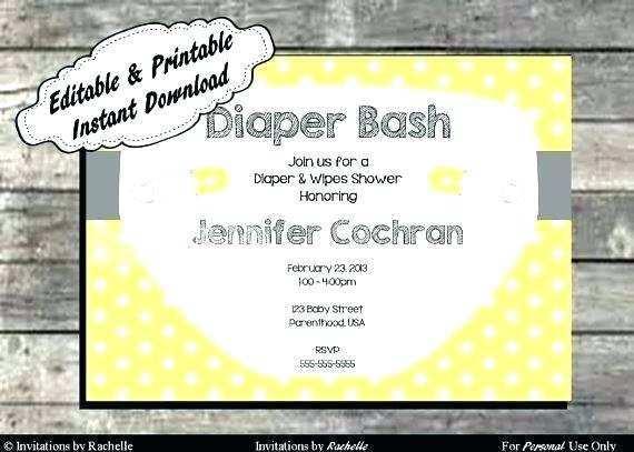 15 Creative Diaper Party Invitation Template Free Now by Diaper Party Invitation Template Free