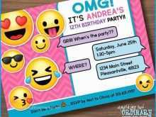 15 Creative Emoji Birthday Party Invitation Template Free Templates by Emoji Birthday Party Invitation Template Free