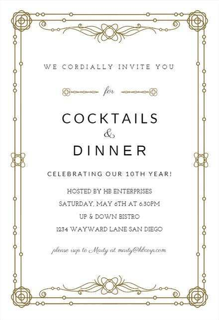 15 Format Blank Dinner Invitation Template With Stunning Design by Blank Dinner Invitation Template