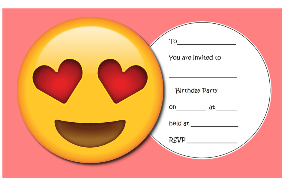 15 Format Emoji Birthday Party Invitation Template Free in Photoshop with Emoji Birthday Party Invitation Template Free