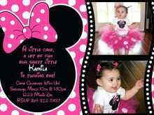15 Format Minnie Mouse Birthday Invitation Template Layouts for Minnie Mouse Birthday Invitation Template