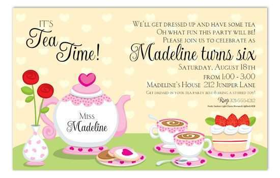 15 Online Afternoon Tea Party Invitation Template Maker by Afternoon Tea Party Invitation Template