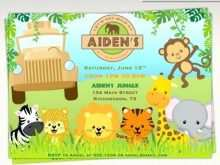 Jungle Theme Birthday Invitation Template Online