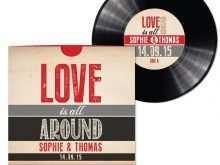 15 Report Vinyl Record Wedding Invitation Template for Ms Word for Vinyl Record Wedding Invitation Template