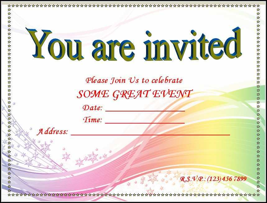15 Standard Blank Invitation Templates Layouts with Blank Invitation Templates