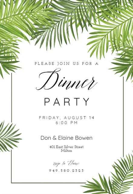 15 The Best Dinner Party Invitation Template Maker by Dinner Party Invitation Template