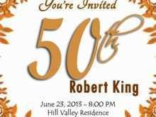 16 Create 50Th Birthday Invitation Template Vector Photo with 50Th Birthday Invitation Template Vector