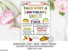 Taco Party Invitation Template