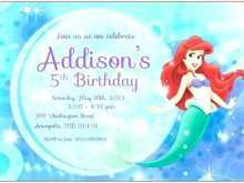 16 Creating Mermaid Birthday Invitation Template With Stunning Design with Mermaid Birthday Invitation Template