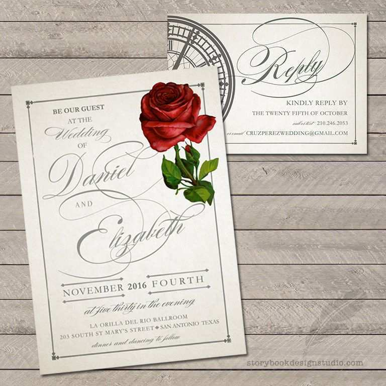 16 Customize Beauty And The Beast Wedding Invitation Template Free in Photoshop by Beauty And The Beast Wedding Invitation Template Free