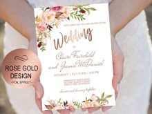 16 Customize Gold Wedding Invitation Template PSD File with Gold Wedding Invitation Template
