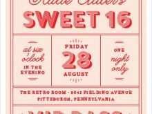 16 Customize Our Free Blank Sweet 16 Invitation Templates Download by Blank Sweet 16 Invitation Templates