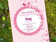 16 Format Birthday Invitation Template Butterfly Party For Free with Birthday Invitation Template Butterfly Party
