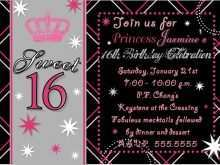 16 Format Blank Sweet 16 Invitation Templates in Photoshop for Blank Sweet 16 Invitation Templates