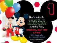 16 Free Mickey Mouse Blank Invitation Template in Photoshop for Mickey Mouse Blank Invitation Template