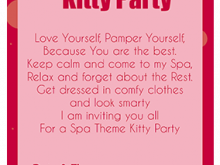 16 Standard Kitty Party Invitation Template Layouts for Kitty Party Invitation Template