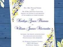 16 Standard Royal Blue Wedding Invitation Template With Stunning Design by Royal Blue Wedding Invitation Template