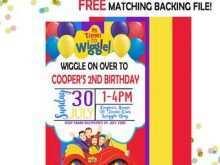 16 Standard Wiggles Birthday Invitation Template PSD File for Wiggles Birthday Invitation Template