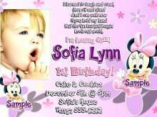 17 Best Birthday Invitation Template For Baby Girl Maker by Birthday Invitation Template For Baby Girl