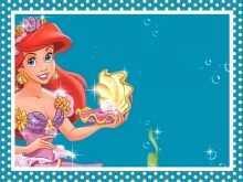 17 Create Little Mermaid Blank Invitation Template Templates by Little Mermaid Blank Invitation Template