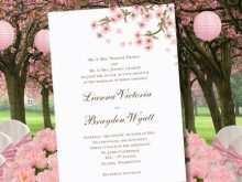 Cherry Blossom Wedding Invitation Template