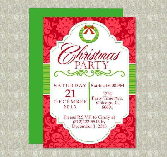 17 Creative Christmas Party Invitation Template Editable For Free with Christmas Party Invitation Template Editable