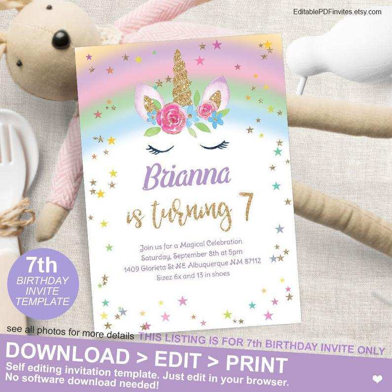 17 creative unicorn 7th birthday