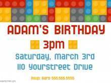 Birthday Invitation Template Lego