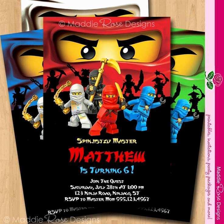 17 Free Printable Ninjago Party Invitation Template Templates by Ninjago Party Invitation Template