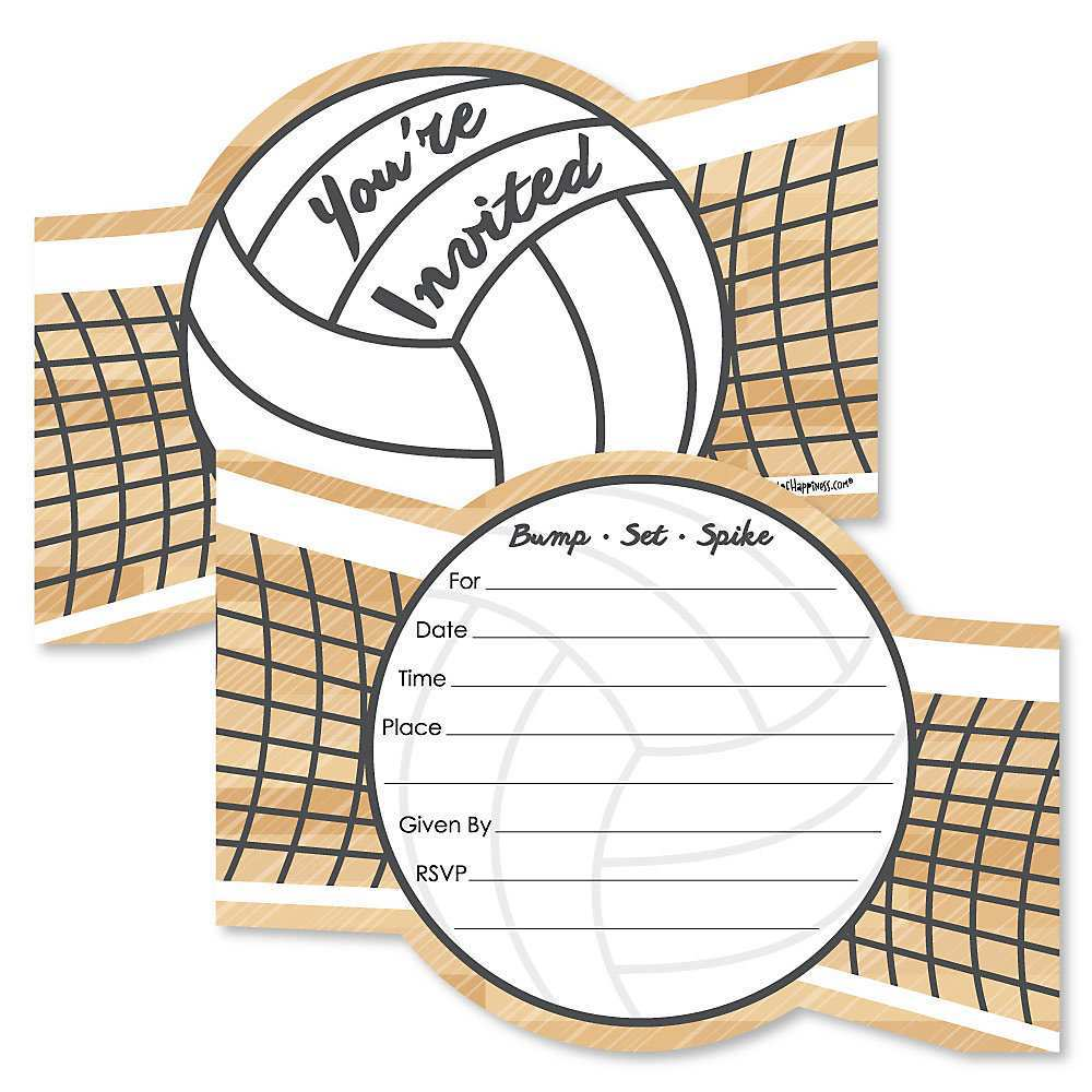 Volleyball Party Invitation Template - Cards Design Templates