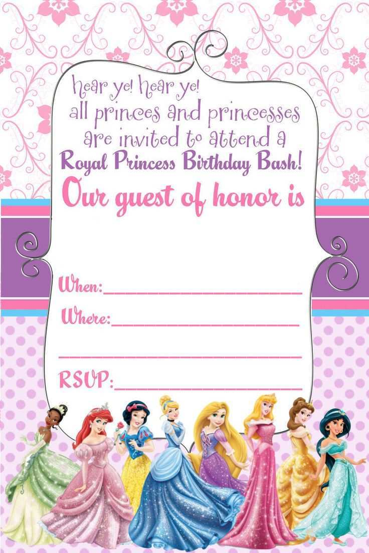17 How To Create Birthday Invitation Templates Disney Princess For Free with Birthday Invitation Templates Disney Princess